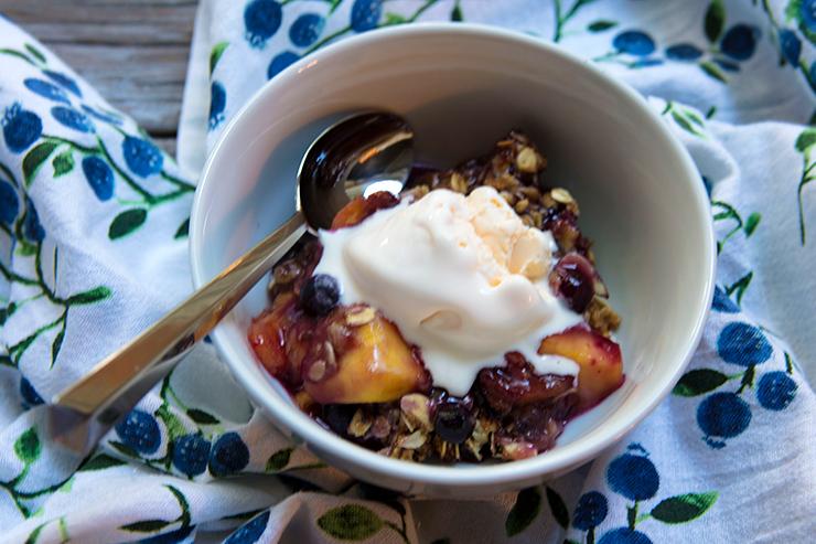 Red Haven Peach & Blueberry Crisp