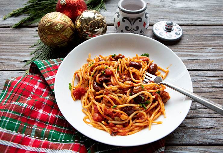 Christmas Eve Sicilian Anchovy Pasta