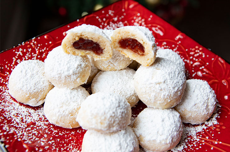 Filled Almond Snowball Cookies Italian Food Forever