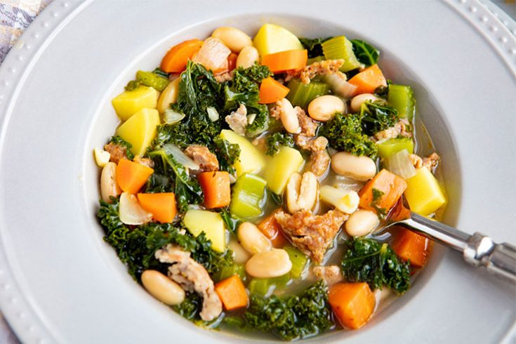 This hearty soup recipe is a complete meal in a bowl.