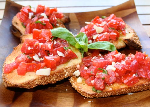 Tomato Bruschetta Italian Food Forever