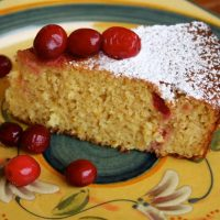 Cranberry Orange Polenta Cake