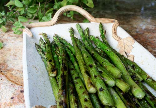 Grilling asparagus enhances the natural flavor caramelizing the sugars.