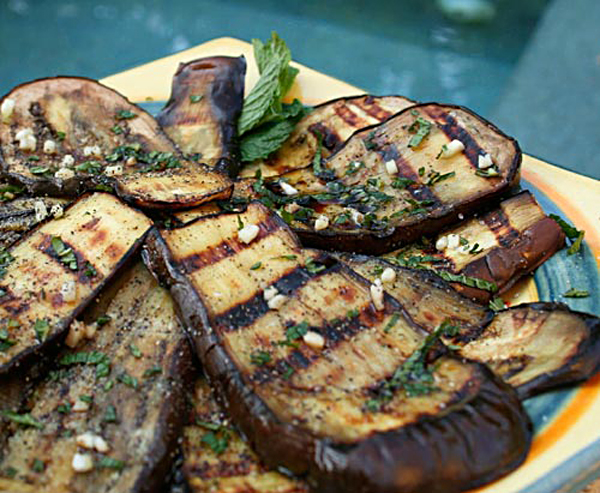 grilled eggplant recipes grilled eggplant with mint italian food forever 30259