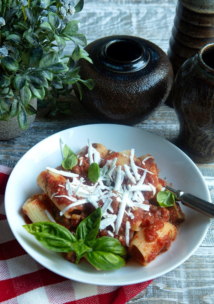 A traditional Italian pasta dish from Sicily.