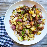 Grilled Warm Red Potato Salad