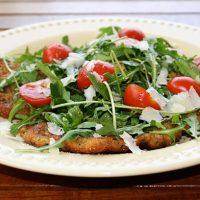 Veal Scallopini with Arugula Salad