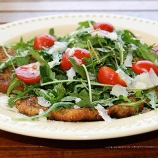 Veal Scallopini with Arugula Salad