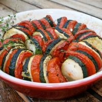 Roasted Zucchini With Tomatoes