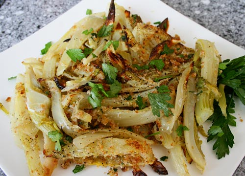 Baking fennel tempers its flavor, and creates a great side dish for meat or poultry.