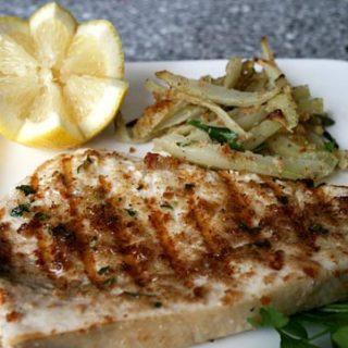 Palermo Style Grilled Swordfish