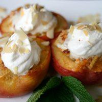 Almond Stuffed Peaches