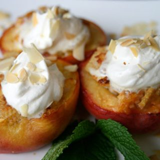 Almond Stuffed Peaches