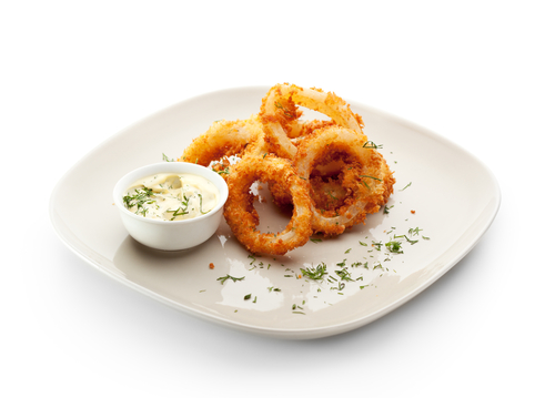 Fried calamari are very easy to prepare at home. For best results, make sure your oil is 375 degrees F.