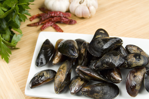 Pernod adds a distinct flavor to these sauteed mussels.