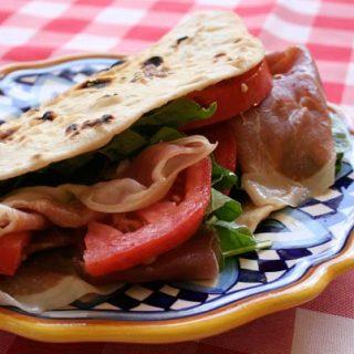Piadini With Prosciutto, Tomatoes, And Arugula
