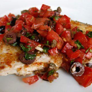 Sicilian Swordfish With Fresh Tomato Relish