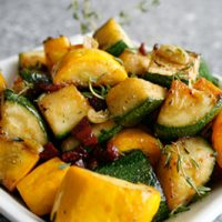 Summer Squash With Pancetta And Fresh Thyme