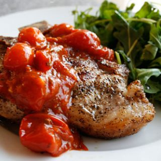 Veal Chops With Sauteed Tomatoes