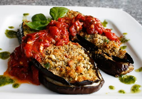 These individual eggplant parmesan packages are great as an appetizer or as a side dish.