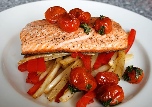To ensure the best results, be careful not to overcook the salmon.