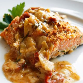 Salmon With Lemon Butter Basil Sauce