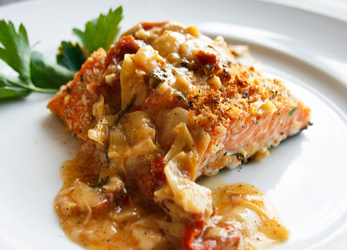 The trick to creating a great dish is to be careful not to overcook the salmon.