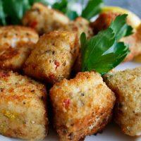 Crispy Swordfish Nuggets