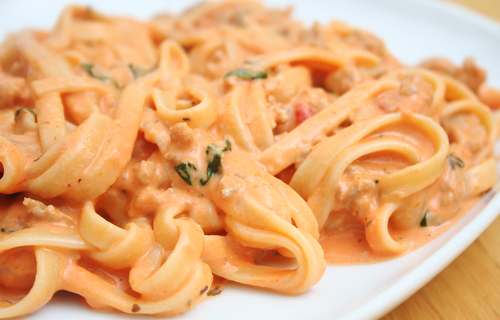 An easy yet elegant sauce that works well with any type of pasta.