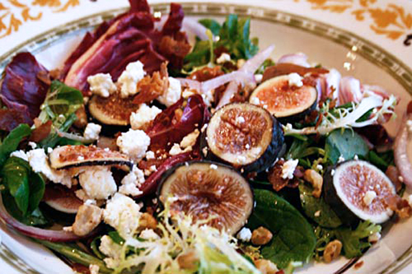 Figs and prosciutto are a match made in heaven and are delicious in this salad.