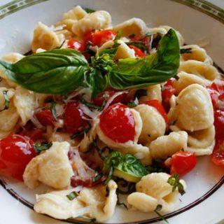 Orecchiette With Fresh Tomatoes And Pecorino