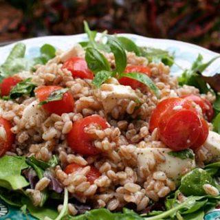Farro Salad With Cherry Tomatoes And Fresh Mozzarella