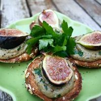 Tuscan Liver Bruschetta With Caramelized Figs