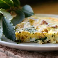 Country Frittata With Potatoes, Pancetta & Basil