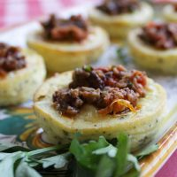 Herbed Goat Cheese Mini Flans