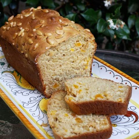 Apricot, Pine Nut & Ginger Breakfast Bread