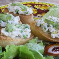 Bruschetta With Ricotta, Baby Peas And Fava Bean Puree