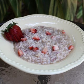 Risotto With Champagne And Strawberries