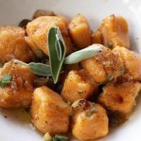 Sweet Potato Gnocchi In Brown Butter Sage Sauce
