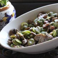 Fava Beans With Mushrooms And Pancetta