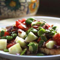 Umbrian Fava Bean Bread Salad