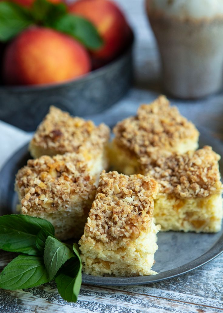 This is an easy breakfast or coffee cake that can be pulled together in minutes and is very moist and delicious.