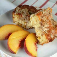 Fresh Peach Breakfast Cake