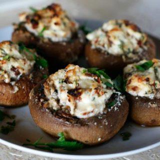 Ricotta Cheese Stuffed Mushrooms