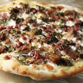 Porcini, Sausage, & Black Truffle Pizza