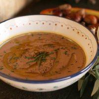 Creamy Porcini Chestnut Soup