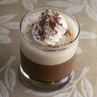 Chocolate Panna Cotta With Espresso Cream
