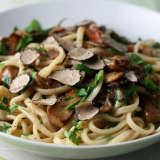 Mixed Wild Mushroom Pasta With Black Truffles