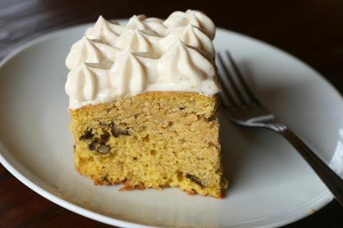 Roasted squash is a switch from canned pumpkin in this moist cake.