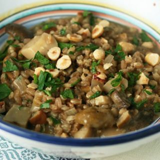 Farro Risotto With Mushrooms